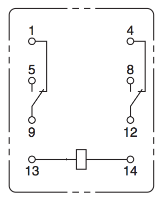 gp relay?w=450 28 electromechanical devices dr stienecker's site 14 pin relay wiring diagram at bakdesigns.co