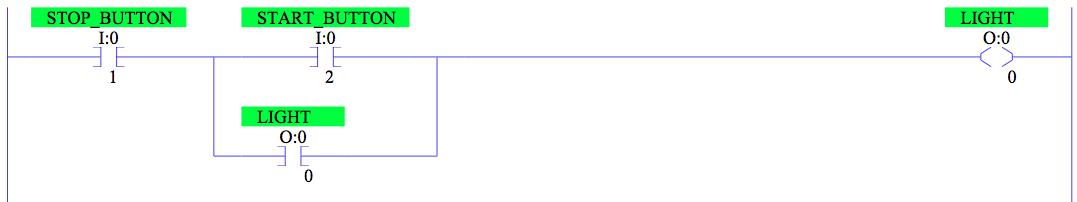 Seal Circuit Ll on Plc Ladder Logic Start Stop Push On Switches