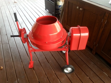 Small cement mixer for the castable